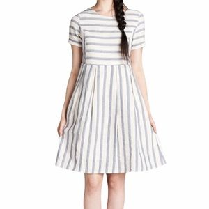 NWT Anthro Orange Creek Striped Flare Dress - M